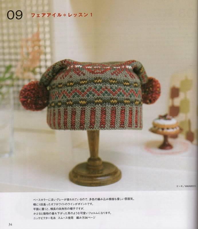Chỉ e đọc chart đan nón này với(có 2 tai pom pom) Capmufflergloves_31