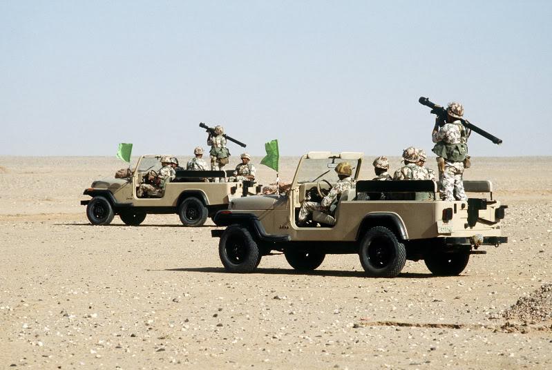 المقارنة الثانية الدفاع الجوي المصري و الاثيوبي Egyptian_rangers_in_Jeeps_with_MANP
