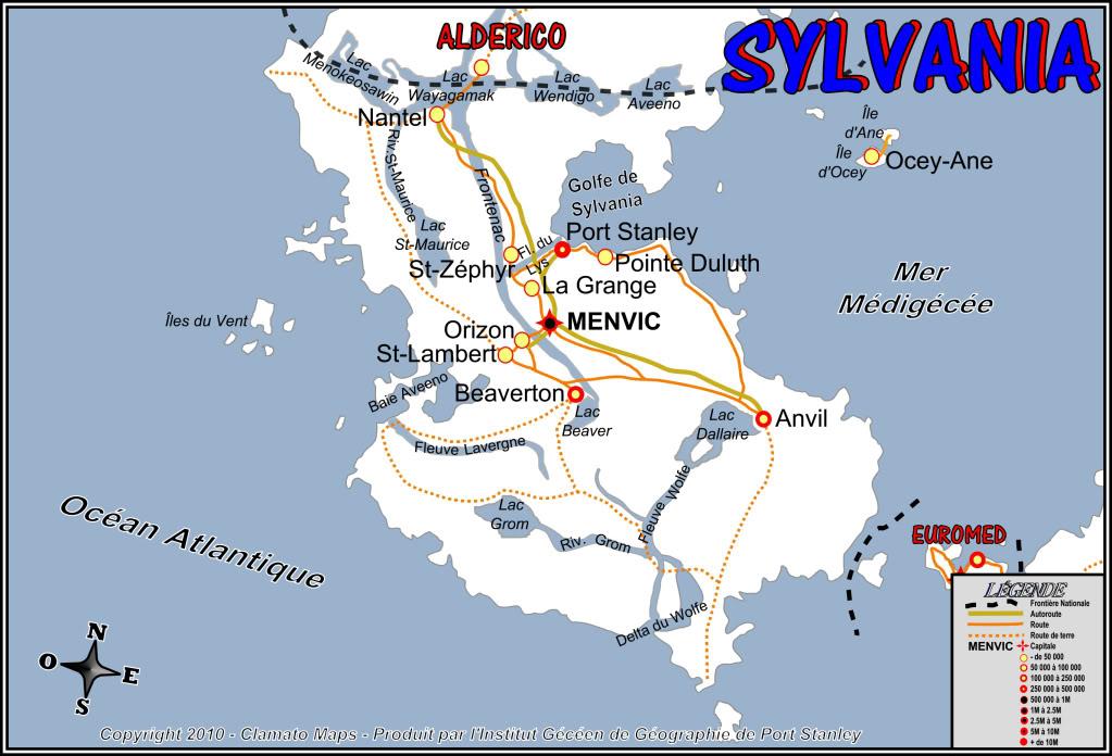 Sylvania, Opérations militaires dans le Tiers Monde Aldelsylien MapSylvania10