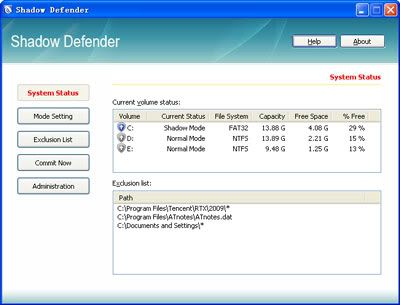 Shadow Defender - Phần mềm đóng băng ổ cứng tốt nhất hiện nay ( có CD Key) 20ShadowDefender4001