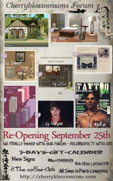Cherryblossomsims updates UpdatesPictureRe-Opening2509Small