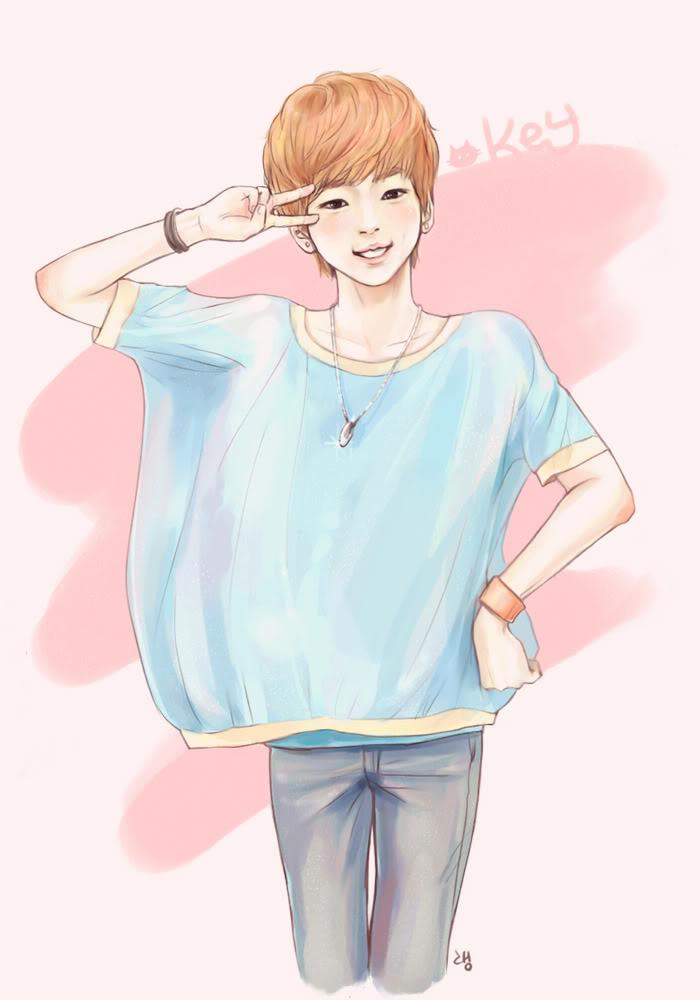 Chibi fanart của b. trẻ Key ~Kim Ki Bum Key071