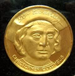 Medalla 500th anniversary Christopher Columbus 1412-1992 01