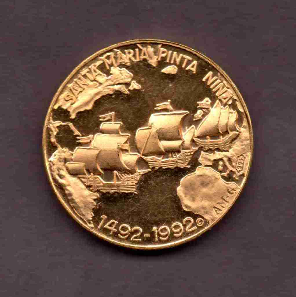 Medalla 500th anniversary Christopher Columbus 1412-1992 MAU020