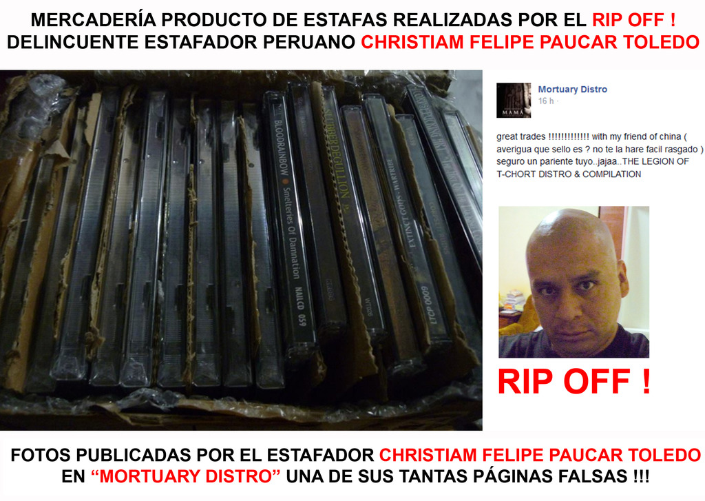 CHRISTIAN FELIPE PAUCAR TOLEDO !!! - ESTAFADOR INTERNACIONAL DE BANDAS Y SELLOS DISCOGRÁFICOS - RIP OFF ! Stolen_stuff4_zps6kg7pyix