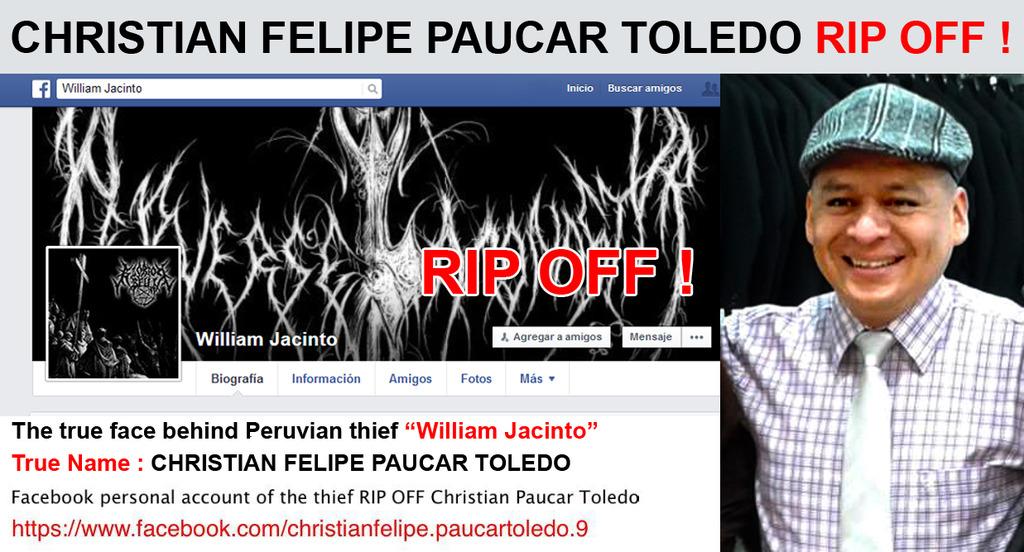 CHRISTIAN FELIPE PAUCAR TOLEDO !!! - ESTAFADOR INTERNACIONAL DE BANDAS Y SELLOS DISCOGRÁFICOS - RIP OFF ! William_jacinto_rip_off_zpsia0nmksf