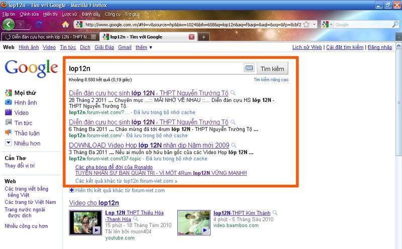 [Thông Báo] Diễn đàn đã được hiển thị ở kết quả tìm kiếm đầu tiên trên Google Google
