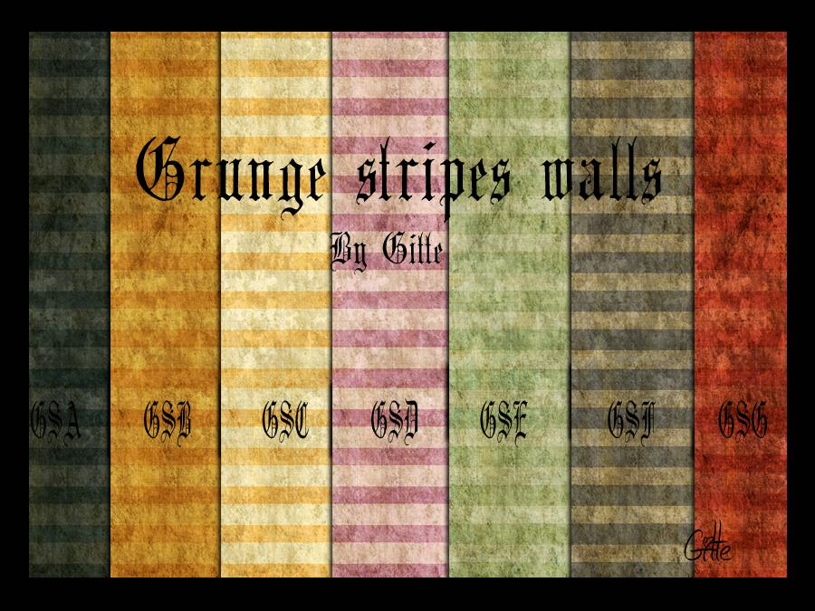 Dirty stripes wallpaper GrungestripewallsbyGitte