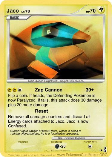 Jaco Makes PTCG Cards of His Friends Dsd