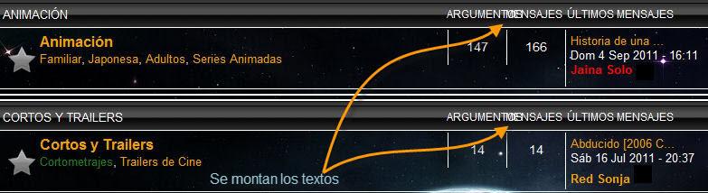 Cambiar tamaño de los textos de cabecera 'Argumentos' y 'Mensajes' Image3