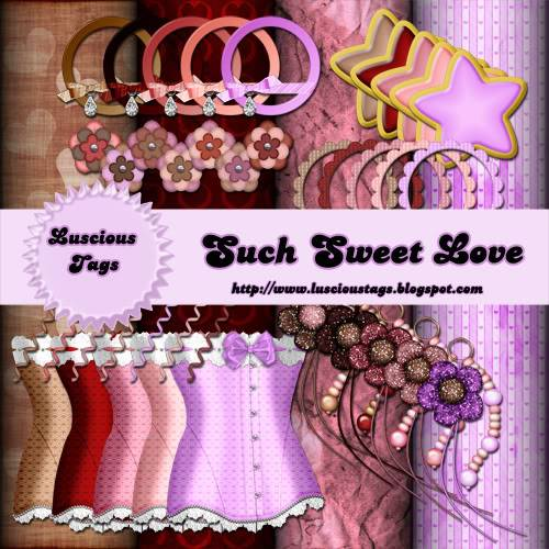 Anouncing my very first scrap kit SuchSweetLove