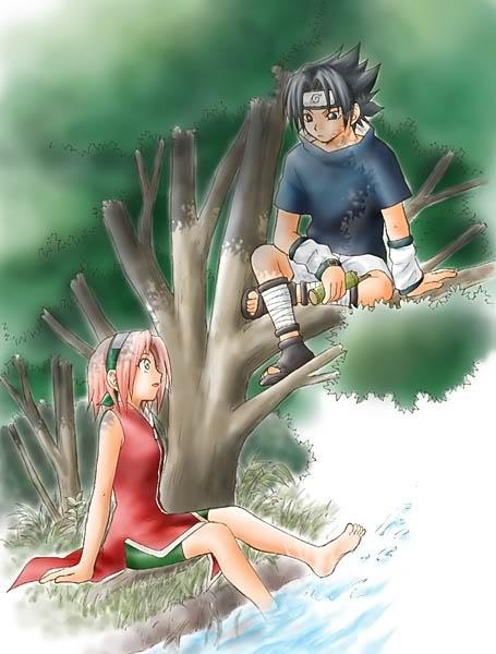 صور ناروتو وساكورا وساسوكي وهيناتا رومانسية putterflys Sasuke-Sakura