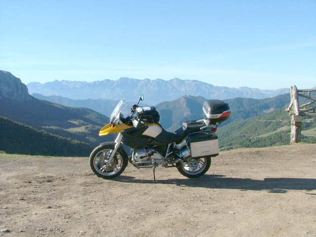 An oldie.  Three mountain ranges and a gorge or two FranceSpain2005633