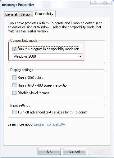 T استخدام msn 7.5 بدون طلب التحديث Messenger111
