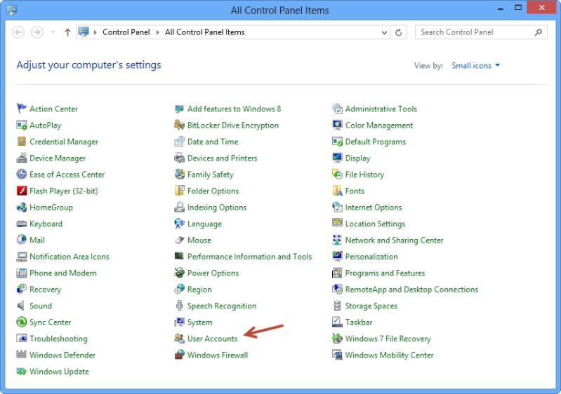 كيفية صناعة Password Reset Disk في حالة نسيان باسورد دخول في Windows 8 1