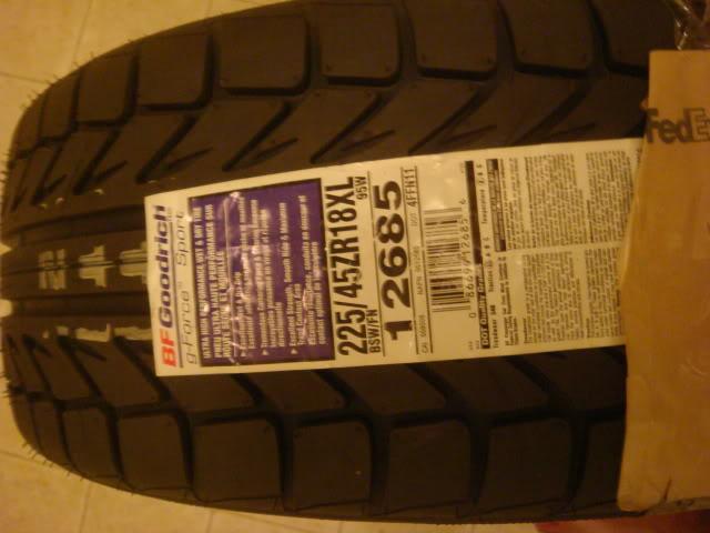 2 BFGoodrich G-Force Sport Tires DSC021491
