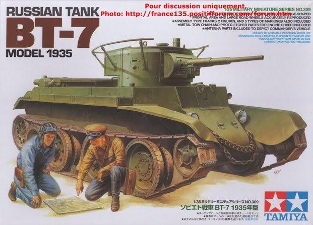 BT-7. Tamiya, ref 35309. 1/35. Kit plastique. BT-7Tamiya1-3501