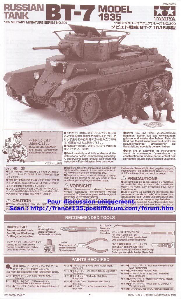 BT-7. Tamiya, ref 35309. 1/35. Kit plastique. BT-7Tamiya1-3509