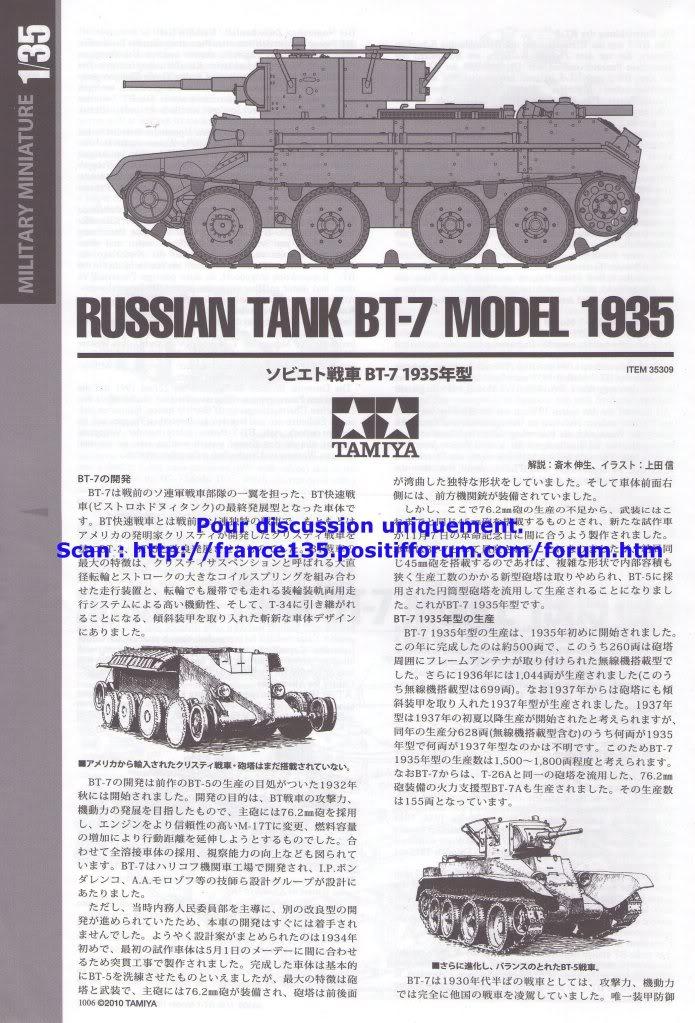 BT-7. Tamiya, ref 35309. 1/35. Kit plastique. BT-7Tamiya1-3510