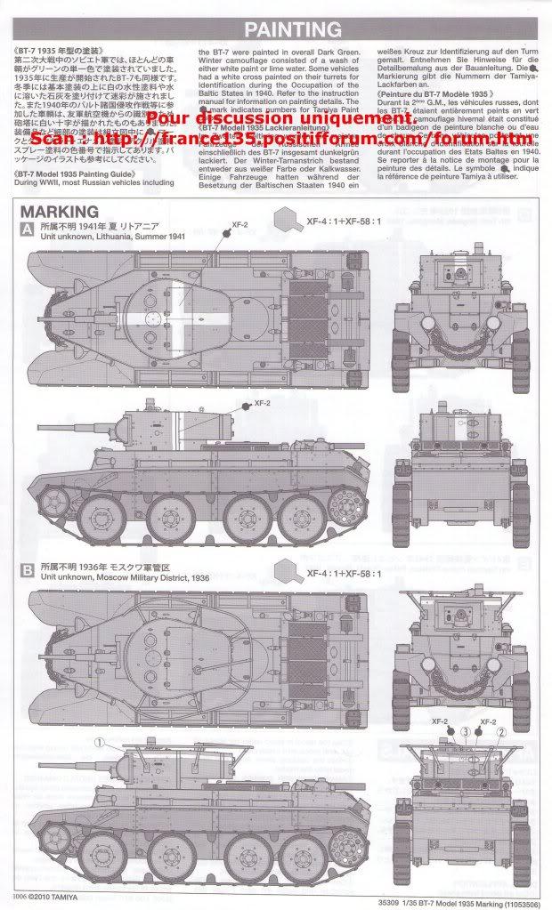BT-7. Tamiya, ref 35309. 1/35. Kit plastique. BT-7Tamiya1-3511