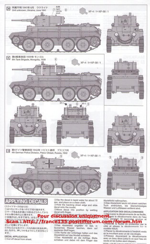 BT-7. Tamiya, ref 35309. 1/35. Kit plastique. BT-7Tamiya1-3512
