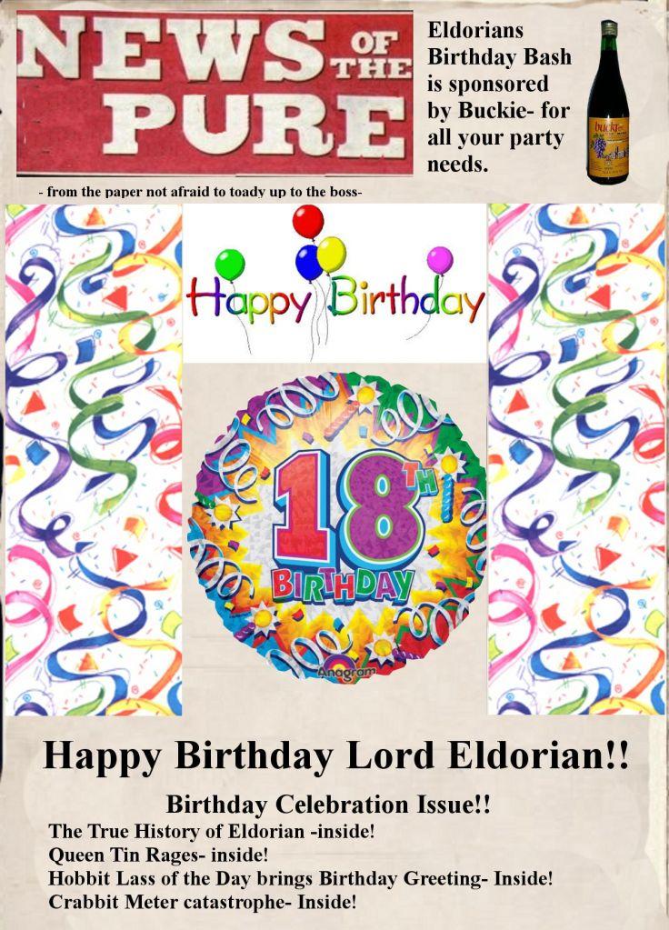 Happy 18th Birthday, ELDORION!! 1-24