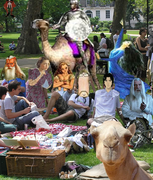 The 2010 Woodhall 48hr Picnic and Elven Disco. All welcome HisPicnic-Goers-3