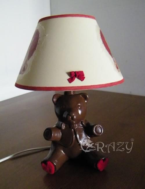 Lampada orsetto rinnovata Paralume2