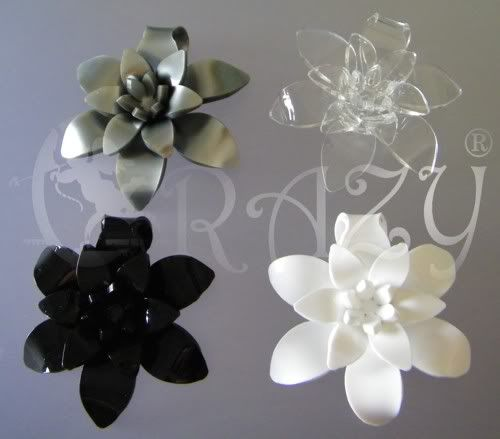 collane e anelli serie fiori in plexiglas Pendaglio