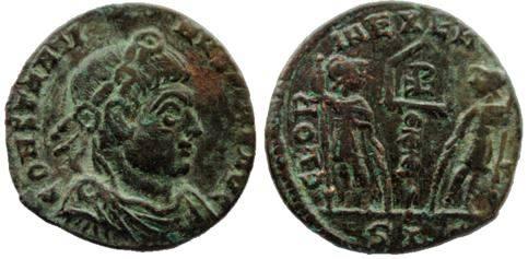 AE4 de Constantino I el Grande. GLORIA EXERCITVS. Lyon Constantinus%20Max%20Avg-_zps2usllrda