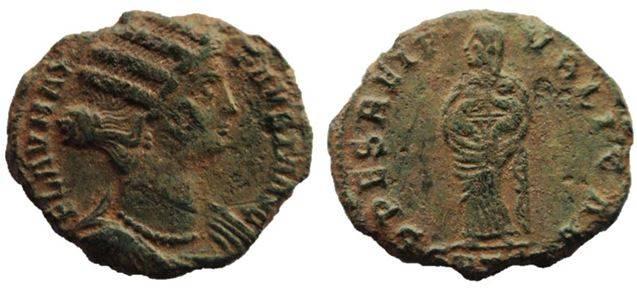 AE3 de Fausta. SPES REI PVBLICAE. Tesalónica FaustaAEFollisThessalonicaRICVII161R3_1-esc2_zps0275b50d