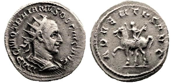 Antoniniano Trajano Decio. ADVENTVS AVG. Roma Trajanus%20Decius%20denaacuterio%20Roma%20RIC%20IV-3%20%2011b--esc--_zpsjiypddb5