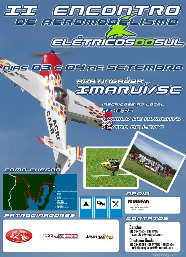 II Encontro de Aeromodelismo Elétricos do Sul Cartaz_segundo__EDS