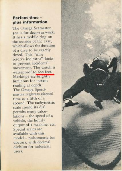 Historique de l'Omega Seamaster 300 - 165024 -  600_01