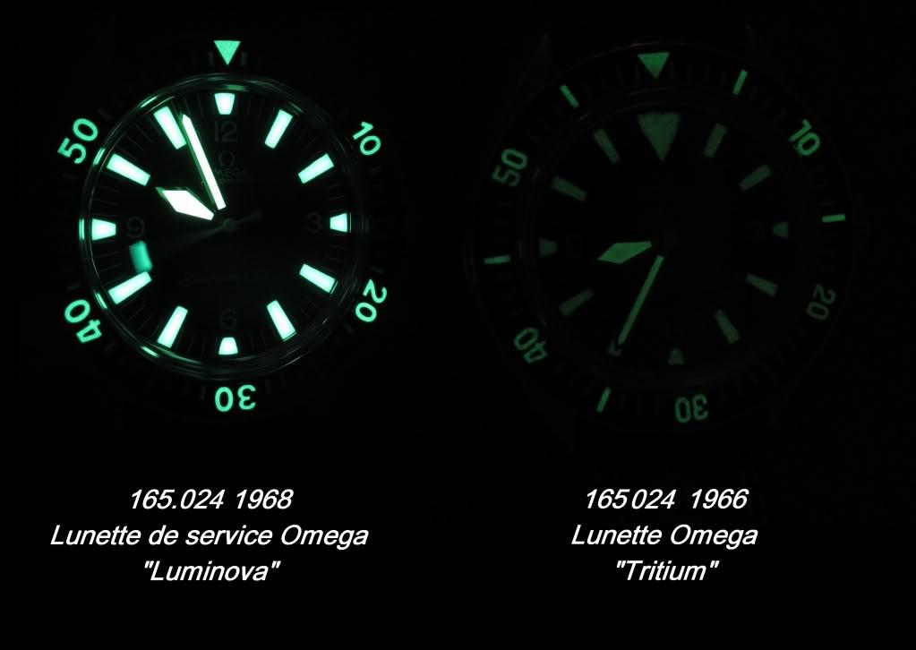Historique de l'Omega Seamaster 300 - 165024 -  L_vs_T