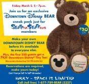 Downtown Disney Bear Disney