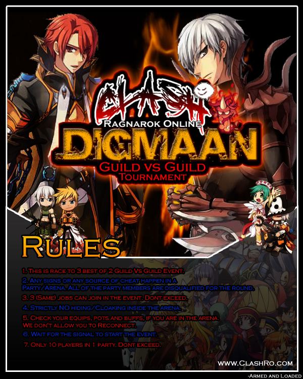"Guild vs Guild ""DIGMAAN!"" Event GvG"
