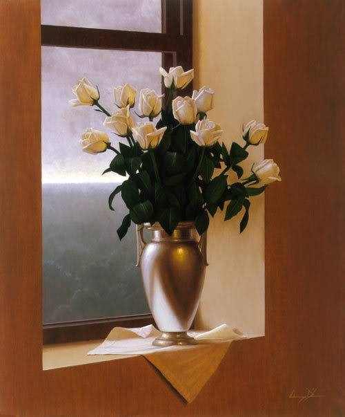 Ruža White_roses_blue_day