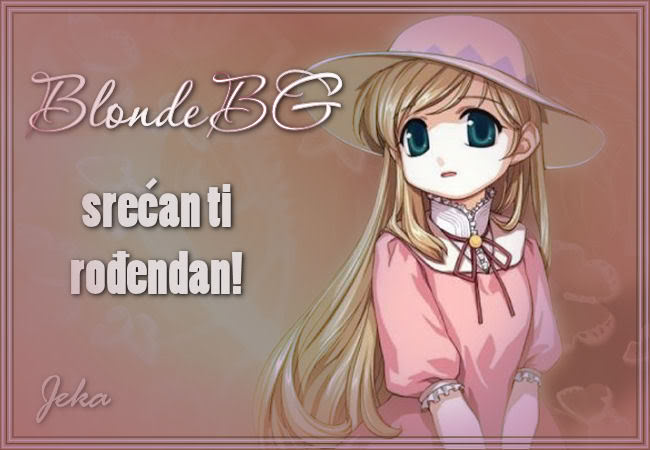 BlondeBG, sve najlepse.... BlondeBG