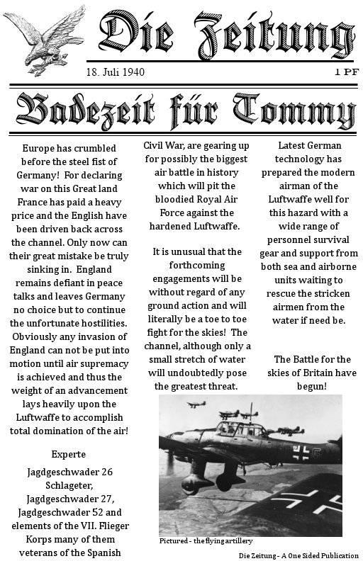 Storm of War Camapigns: Battle of Britain NEWS Sowcbob1