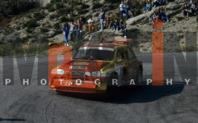 MG Metro 6R4. Ixo-Altaya. Juanh Racing Team 006  861009AntibesAuriol1hb