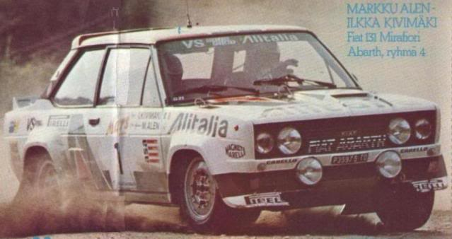 Fiat 131 Abarth. Ixo-Altaya. Juanh Racing Team 009  VM_10_79_keskia_huononn