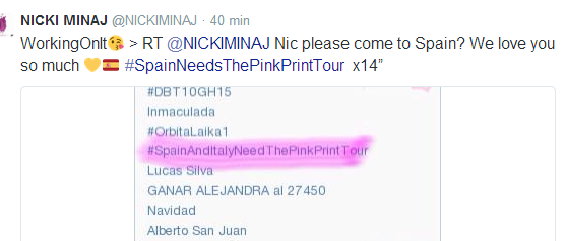"Gira » ""The Pinkprint Tour"" 