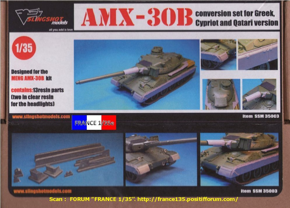 AMX 30B Conversion set for Greek, Chypriot and Qatari version. Slingshot Models, 1/35, ref SSM 35003. Résine. FRANCE135_CONVERSION30BGRECCHYPREQATAR_SLINGSHOTMODELS_1-35_REFssm35003_01_zps2bf1a132