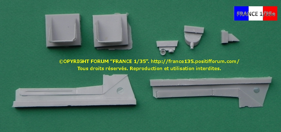 AMX 30B Conversion set for Greek, Chypriot and Qatari version. Slingshot Models, 1/35, ref SSM 35003. Résine. FRANCE135_CONVERSION30BGRECCHYPREQATAR_SLINGSHOTMODELS_1-35_REFssm35003_04_zpsee392199
