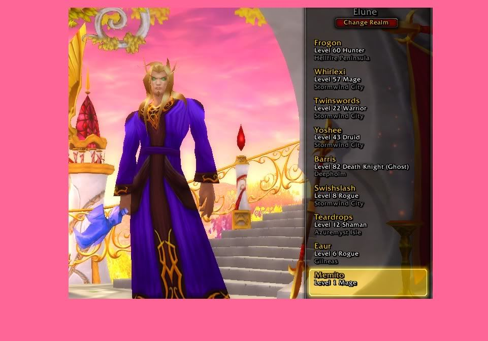 my world of warcraft toons :[) xx-pker-xx-added rapescape to proove i play this acc Wow