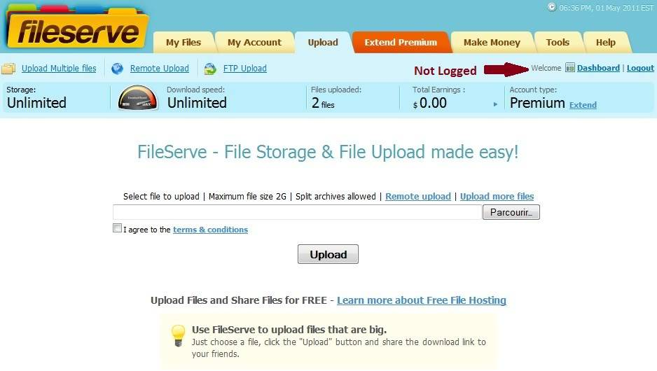 Free Download megaupload, rapidshare, fileserve với tài khoản premium - hot FilleserveAfter-1