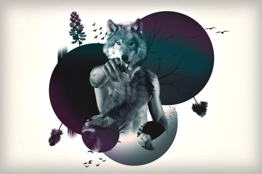Large Art Wolfman-1