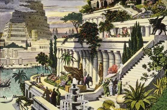 பண்டைய 7 உலக அதிசயங்கள் Hanging_Gardens_of_Babylon