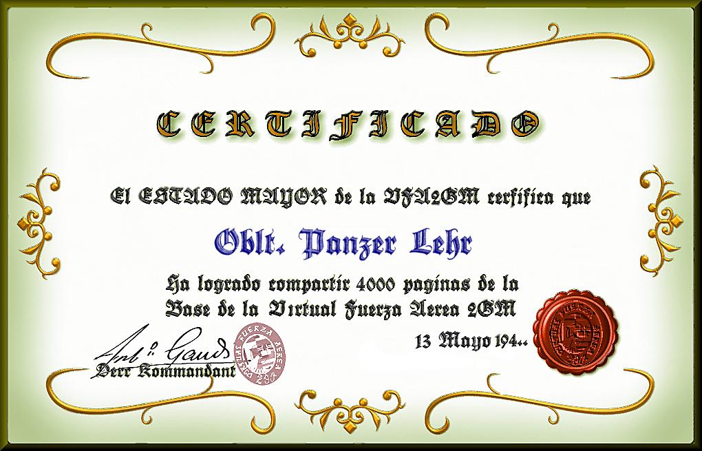 Certificado 4,000 paginas VFA2GM Panzerlehr_zps40cc0a5a